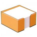 Блок для записей непроклеенный в подставке Стамм, 90х90мм, манго