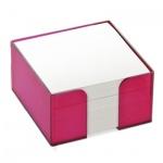 Блок для записей в подставке Стамм слива, 9х9х5см, непроклеенный