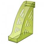 Накопитель вертикальный для бумаг Стамм Торнадо А4, 95мм, лайм, ЛТ406
