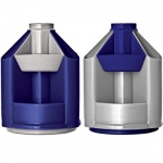 Органайзер настольный Стамм Mini Desk 10 секций, 140х107мм, серо-синий