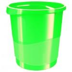 Корзина для бумаг Esselte Europost Vivida 14л, с держателем, зеленый
