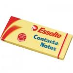 Блок для записей с клейким краем Esselte желтый, пастельный, 40х50мм, 3х100 листов