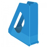 Накопитель вертикальный для бумаг Esselte Europost Vivida А4, 72мм, синий