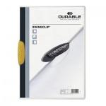 Пластиковая папка с клипом Durable Swingclip, А4, до 30 листов, желтая