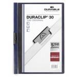 Пластиковая папка с клипом Durable Duraclip, А4, до 30 листов, иссиня черная