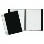Папка файловая Durable Duralook черная, A4, на 20 файлов, 2422-01