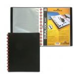 Папка файловая Durable Duralook Easy черная, А4, на 20 файлов, 2426-01
