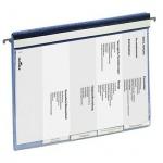 Скоросшиватель пластиковый Durable подвесной голубой, 5 разделителей, 2555-06