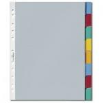 Цветовой разделитель листов Durable, А4, 8 разделов