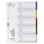 Цветовой разделитель листов Durable 5 разделов, А4, 6730-27