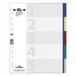 Цветовой разделитель листов Durable 5 разделов, А4+, 6737-27, 5
