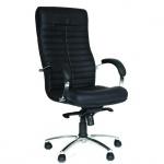 Кресло руководителя Chairman 480 иск. кожа, черная, крестовина хром