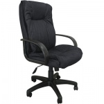 Кресло руководителя Бюрократ CH-838AXSN, крестовина пластик, черная микрофибра