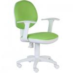 Кресло офисное Бюрократ CH-W356AXSN ткань, салатовая, крестовина пластик, белая