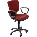 Кресло офисное Бюрократ CH-626AXSN ткань, бордовая, ромбик, крестовина пластик