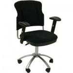 Кресло офисное Бюрократ CH-H323AXSN ткань, черная, крестовина хром