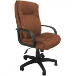 Кресло руководителя Бюрократ CH-838AXSN иск. нубук, коричневый, крестовина пластик