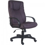 Кресло руководителя Бюрократ CH-838AXSN иск. нубук, фиолетовый, крестовина пластик