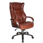 Кресло руководителя Бюрократ CH-879DG иск. кожа, крестовина пластик, коричневое