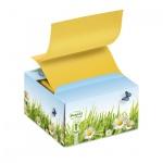Диспенсер для клейких листков Post-It Эко Цветы, картонный, 76х76мм, 200 листов, 1 блок, B330-1RG/ED/OB