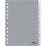 Цифровой разделитель листов Durable, А4, 20 разделов