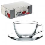 Чайный набор Pasabahce Basic на 6 персон, (6 кружек 215мл + 6 блюдец)