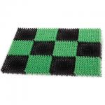 Коврик придверный Idea Травка пластиковый, 55х41см, зелено-черный