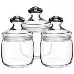 Набор банок для сыпучих продуктов Pasabahce Cesni 0.65л, стекло, с плотно прилегающей крышкой, 3шт/уп