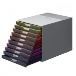 Бокс для бумаг Durable Varicolor 280х295х350мм, 10 ящиков, серый, 7610-27