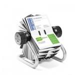 Картотека для визиток Durable Rotary Visifix, на 400 карточек, серебристый