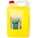 Средство для мытья посуды Лазурит 5л, лимон, гель