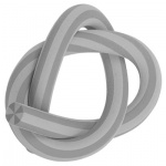 Ластик Brunnen d=1, l=33см, гнущийся, 29970, серый