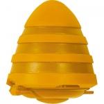 Точилка Brunnen 29873 2 отверстия, с контейнером, волнистая, желтый