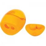 Точилка Brunnen 29879 2 отверстия, с контейнером, круглая, желтый