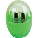 Точилка Brunnen 29879 2 отверстия, с контейнером, круглая, зеленый