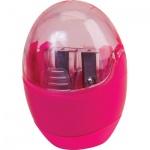 Точилка Brunnen 29879 2 отверстия, с контейнером, круглая, розовый