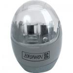 Точилка Brunnen 29879 2 отверстия, с контейнером, круглая, серый