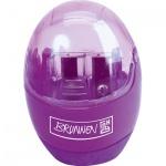 Точилка Brunnen 29879 2 отверстия, с контейнером, фиолетовая, круглая