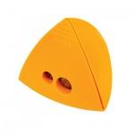Точилка Brunnen 29874 2 отверстия, с контейнером, треугольная, желтый