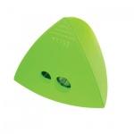 Точилка Brunnen 29874 2 отверстия, с контейнером, треугольная, зеленый