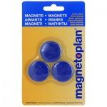 Магниты Magnetoplan Junior d=34х9мм, 3шт/уп, синие