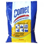 Универсальное чистящее средство Comet Двойной Эффект 0.4кг, лимон, порошок, в пакете