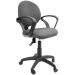 Кресло офисное Chairman 682 ткань, черная, серая, JP, крестовина пластик
