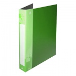 Папка на 2-х кольцах А4 Бюрократ зеленая, 40 мм, 0812/2Rgrn