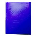 Папка пластиковая с зажимом Бюрократ Galaxy синяя, А4, 0.7мм, GA07CBLUE