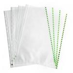 Файл-вкладыш А4+ Бюрократ Премиум, 30 мкм, 50 шт/уп, зеленый