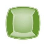 Тарелка одноразовая Buffet салатовая, 18см, квадратная плоская, 6шт/уп
