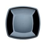 Тарелка одноразовая Buffet черная, 18см, квадратная плоская, 6шт/уп