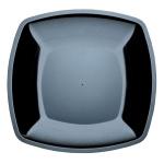 Тарелка одноразовая Buffet, 23см, квадратная плоская, 6шт/уп, черный