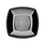 Тарелка одноразовая Buffet черная, 18см, квадратная глубокая, 6шт/уп
